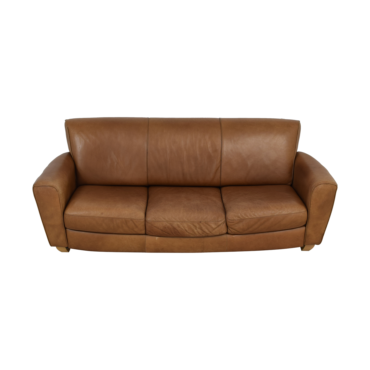 Brown Three-Cushion Couch nyc