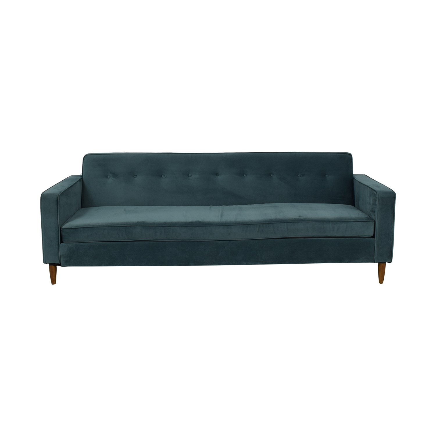 Kardiel Kardiel Teal Semi-Tufted Single Cushion Couch coupon