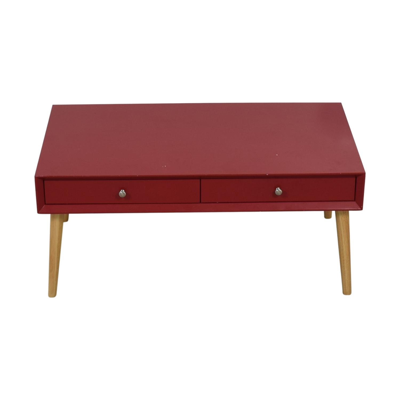 Wayfair Wayfair Red Two-Drawer Coffee Table price