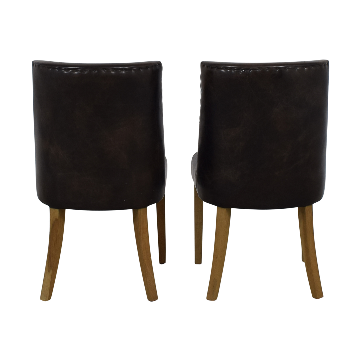 Restoration Hardware Restoration Hardware Brown Leather Dining Chairs nj
