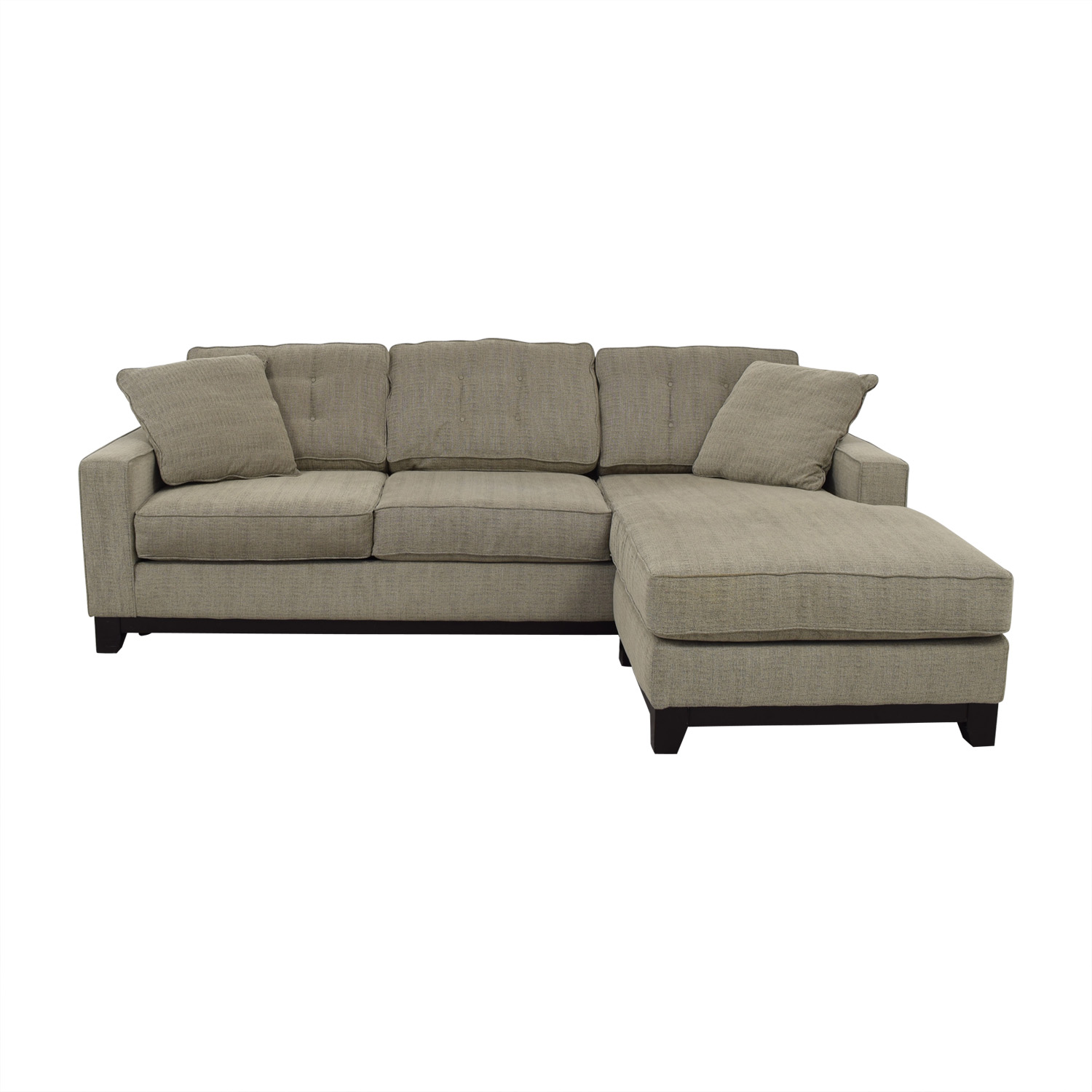 Macy's Macy's Gray Chaise Sectional on sale