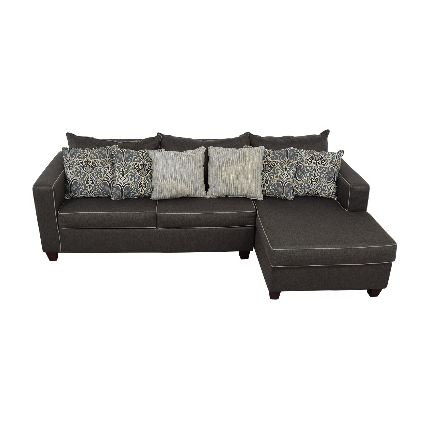 May Furniture Alex Grey Right Facing Sectional sale