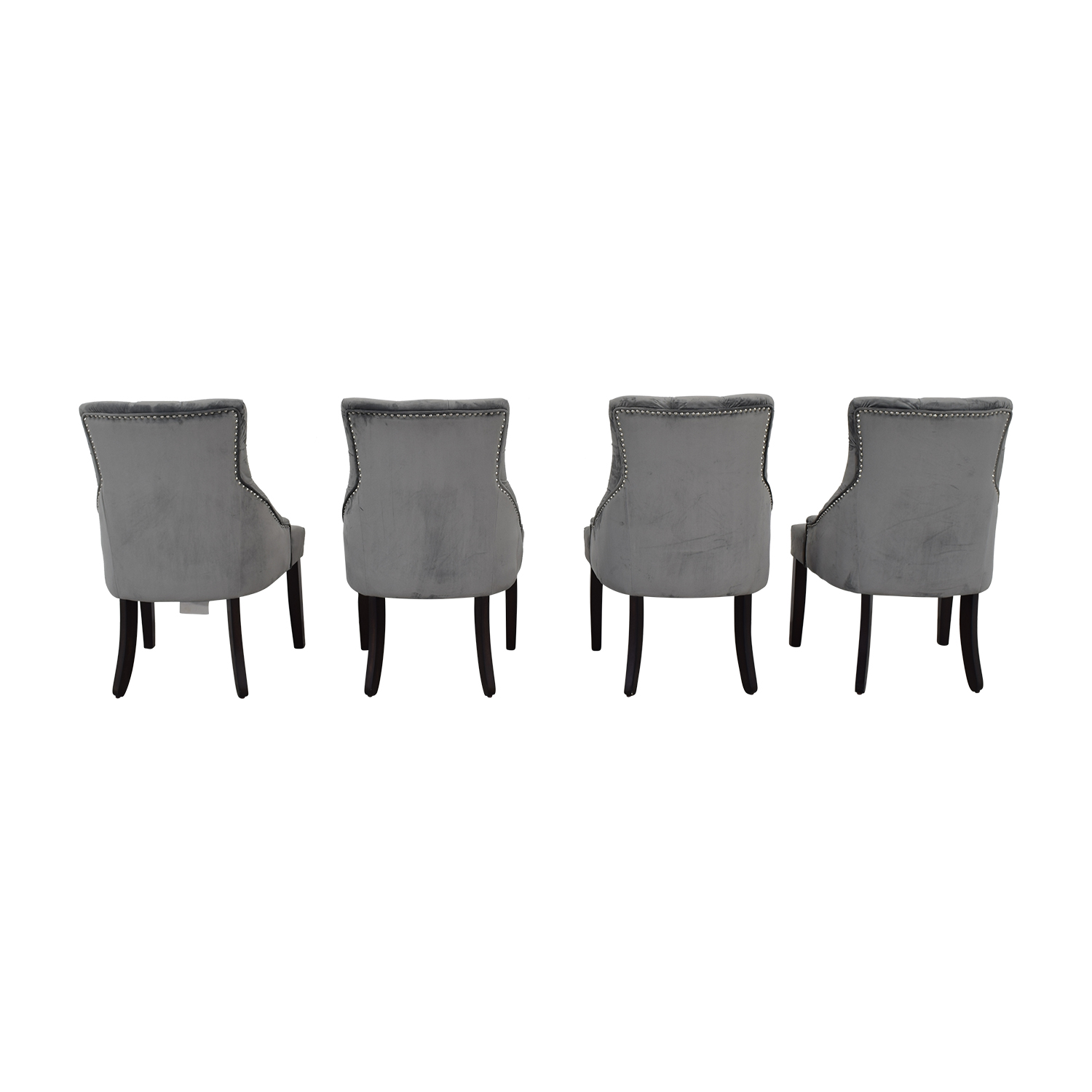Verona Home Gray Tufted Velvet Dining Chairs sale