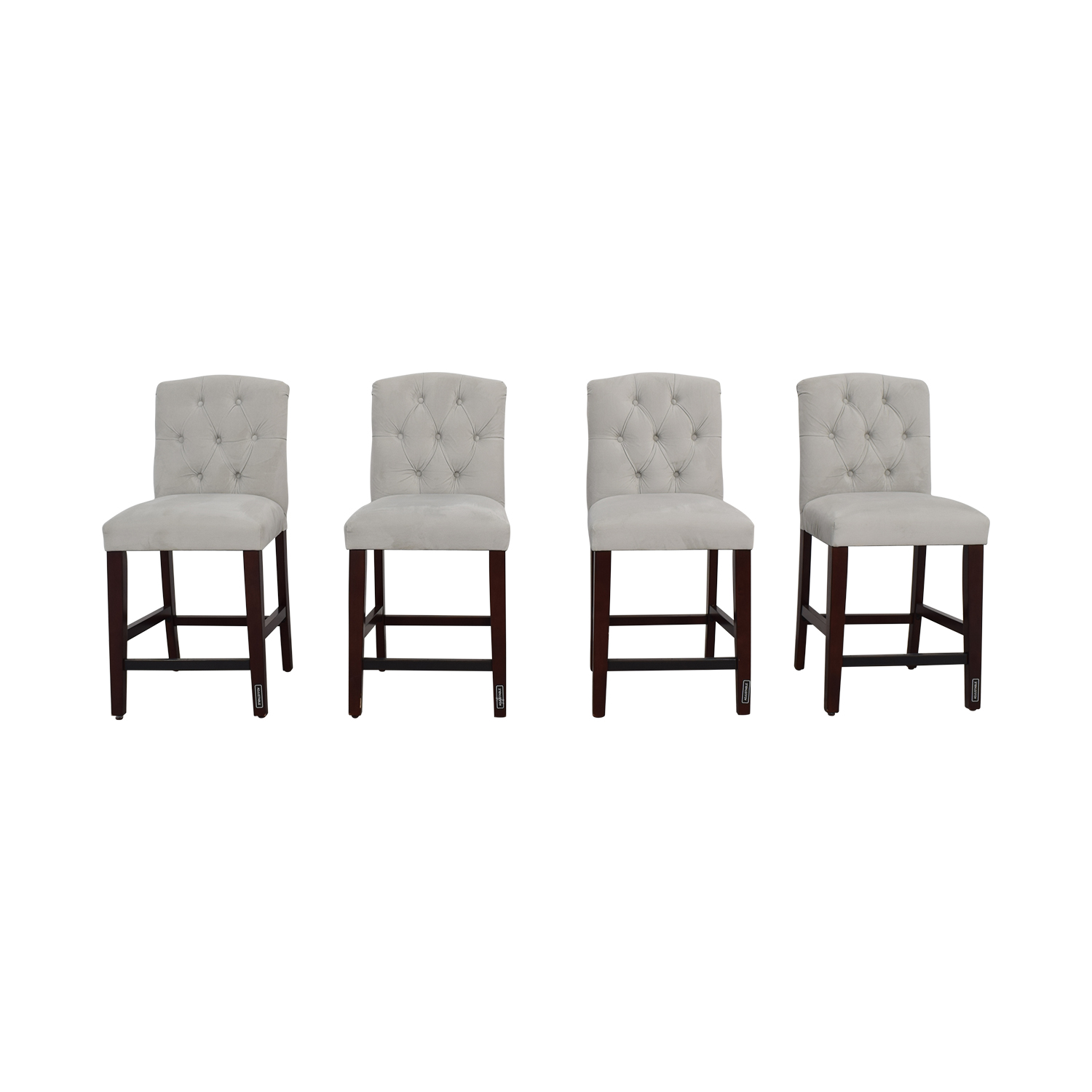 shop Skyline Skyline Denise Grey Tufted Velvet Counter Stools online