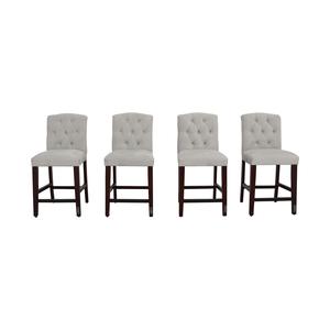 shop Skyline Denise Grey Tufted Velvet Counter Stools Skyline Furniture Chairs