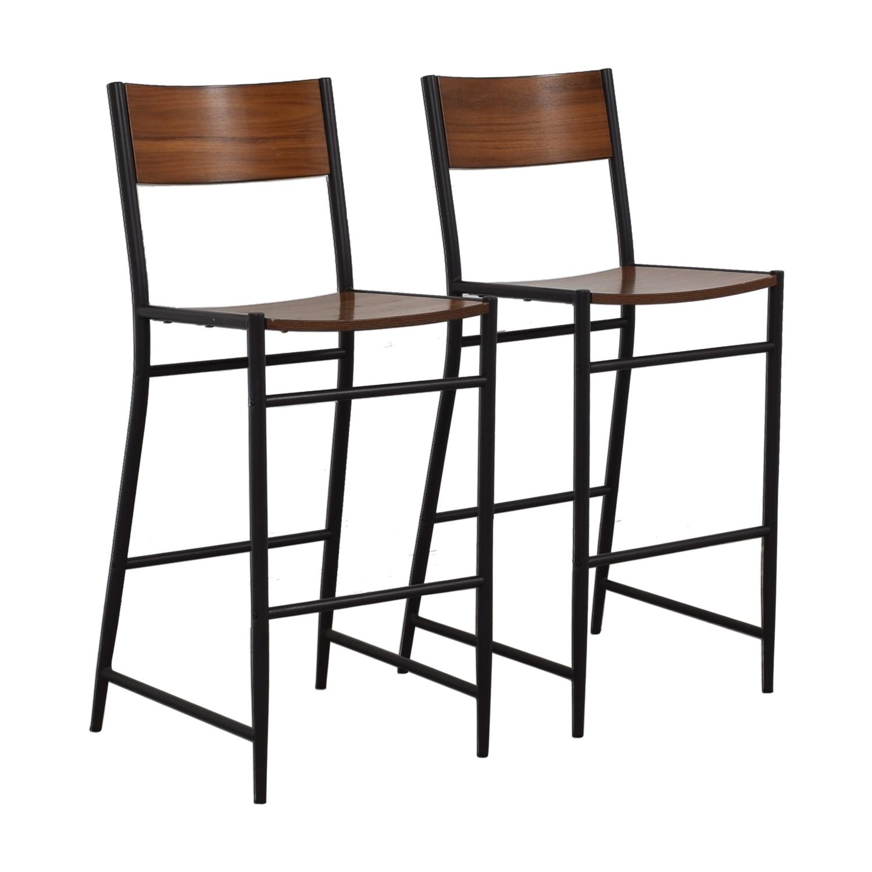 buy West Elm West Elm Rustic Wood Bar Stools online