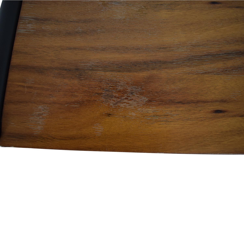 West Elm Rustic Wood Bar Stools / Stools