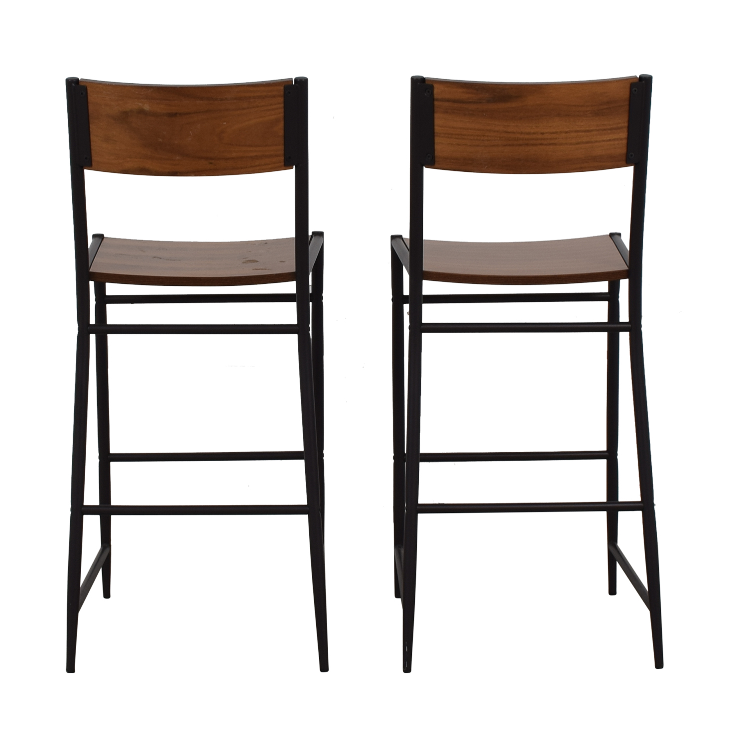 West Elm West Elm Rustic Wood Bar Stools