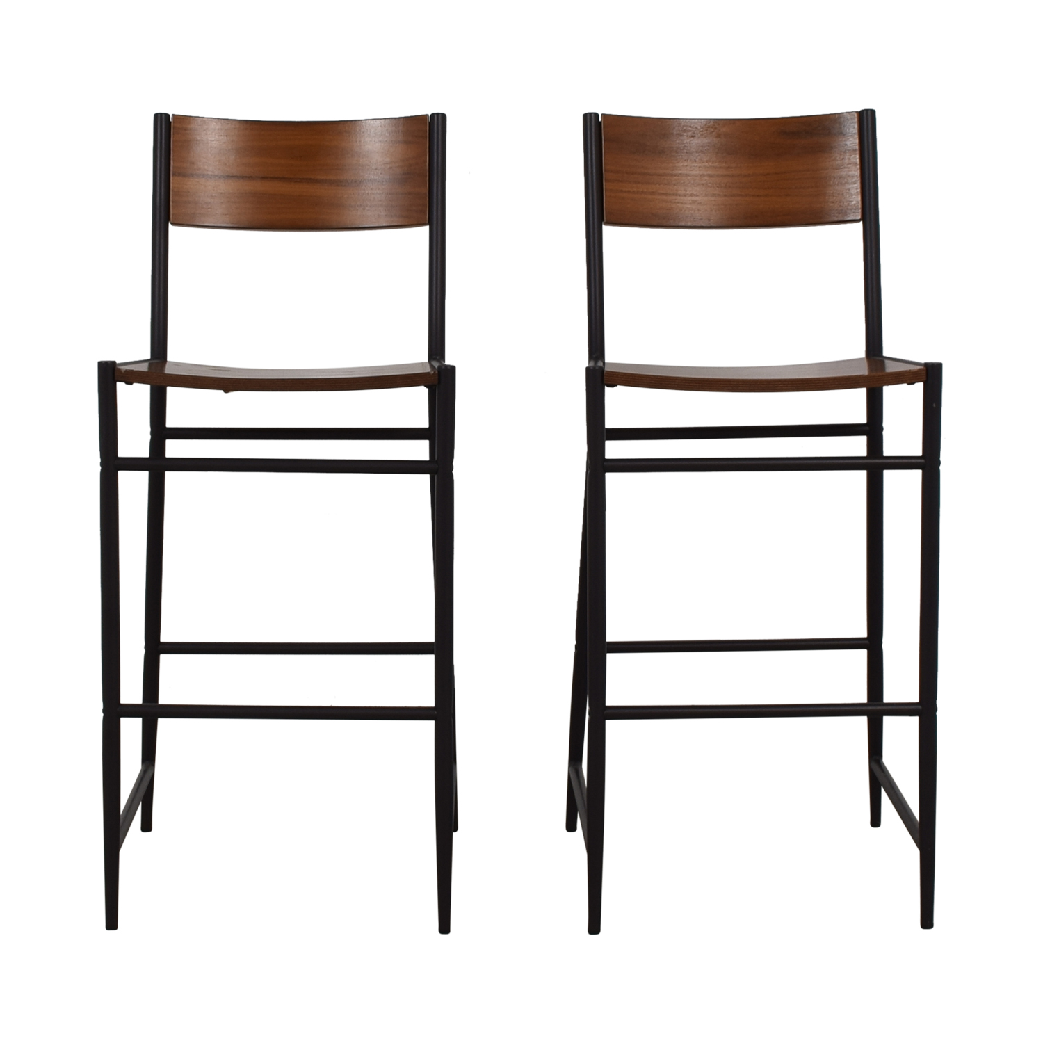 West Elm Rustic Wood Bar Stools sale