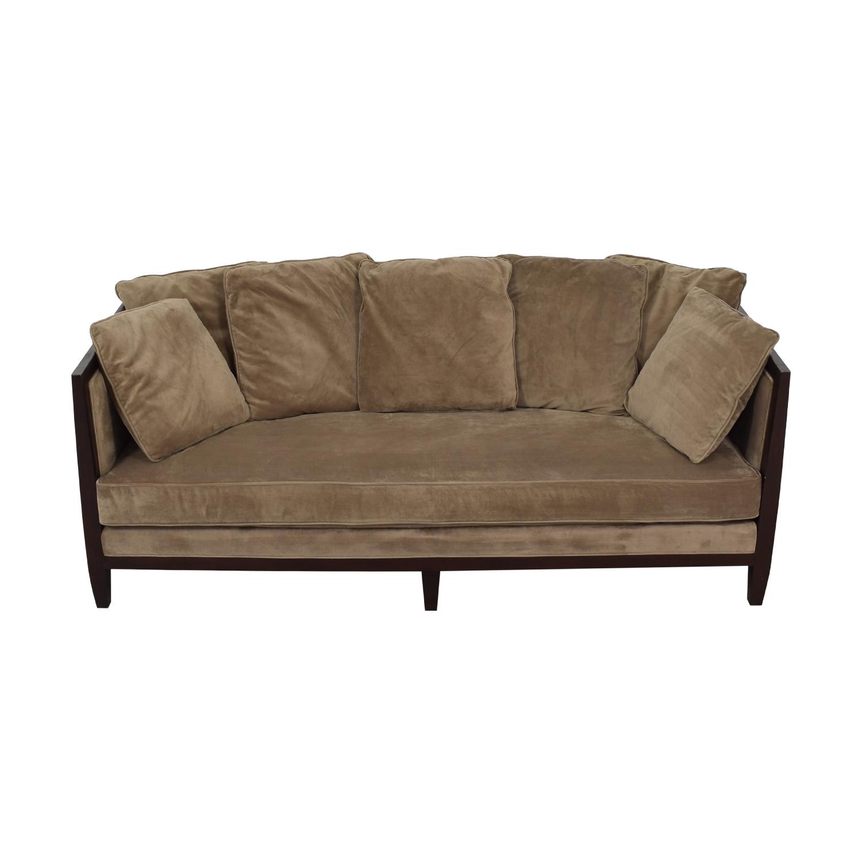Bernhardt Mocha Brown Single Cushion Sofa / Classic Sofas