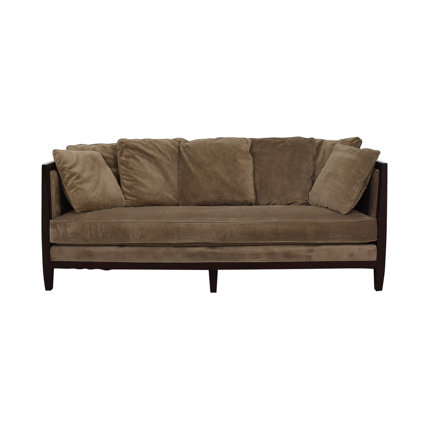 Bernhardt Mocha Brown Single Cushion Sofa Dimensions
