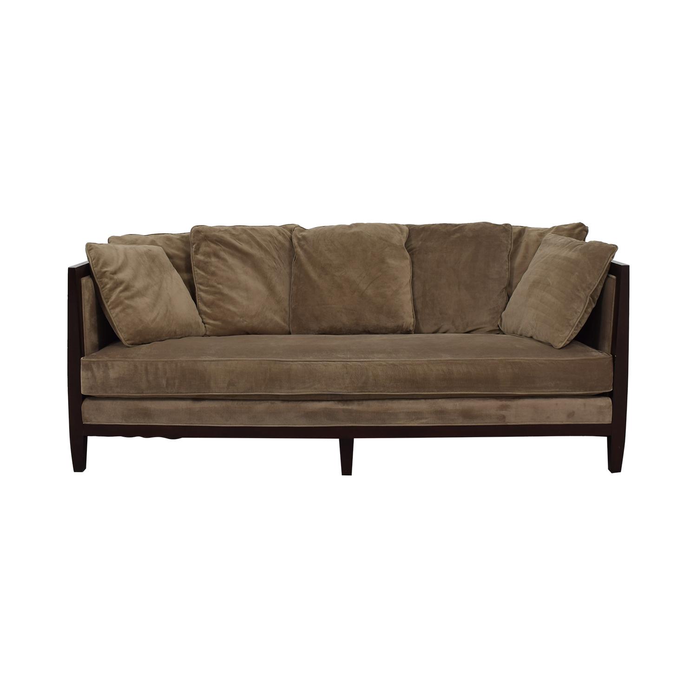 buy Bernhardt Mocha Brown Single Cushion Sofa Bernhardt Sofas