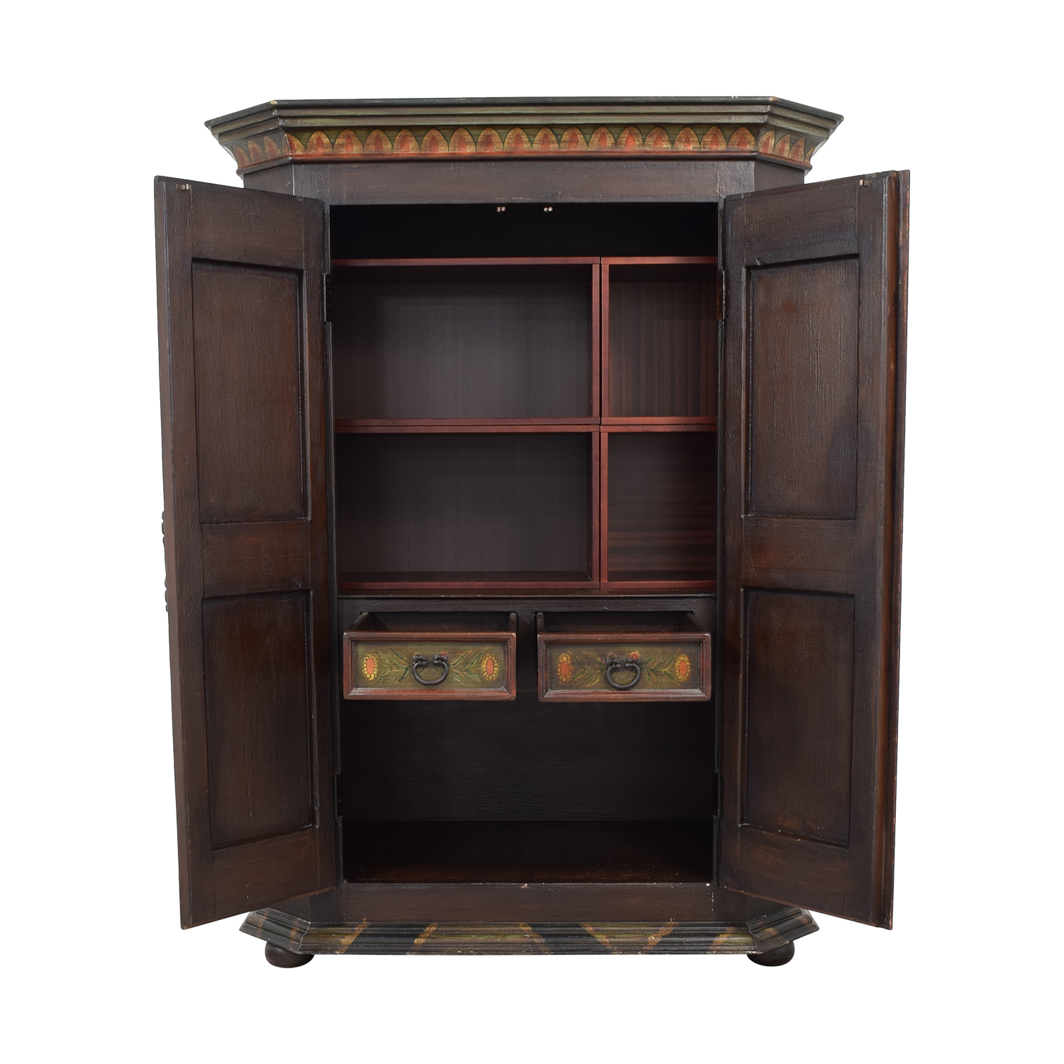 buy Painted Wood Two-Drawer Storage Armoire  Storage