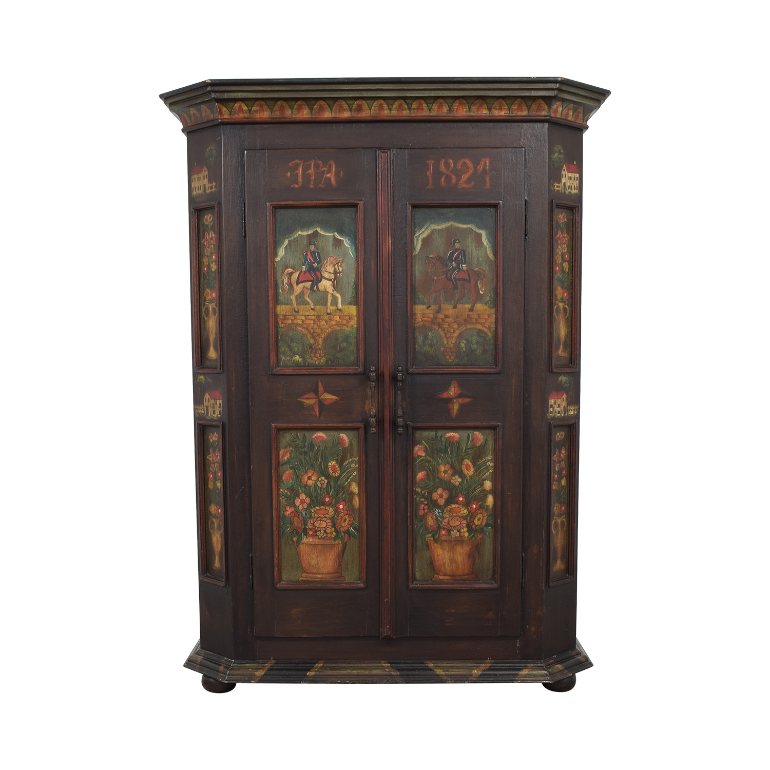 shop  Painted Wood Two-Drawer Storage Armoire online