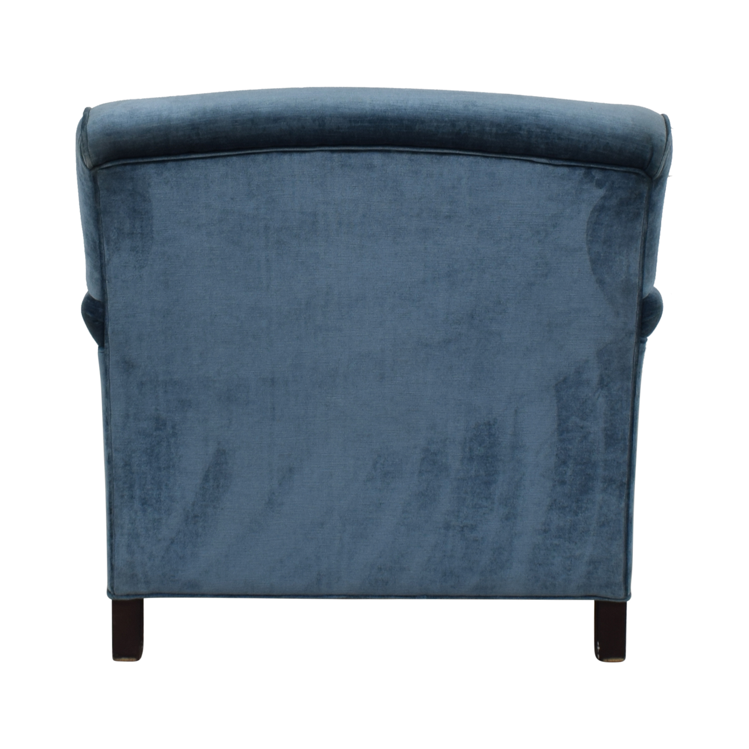 buy Mitchell Gold + Bob Williams Blue Velvet Chaise Lounge on Castors Mitchell Gold + Bob Williams Sofas
