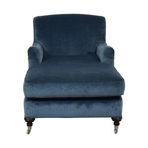 Mitchell Gold + Bob Williams Mitchell Gold + Bob Williams Blue Velvet Chaise Lounge on Castors price