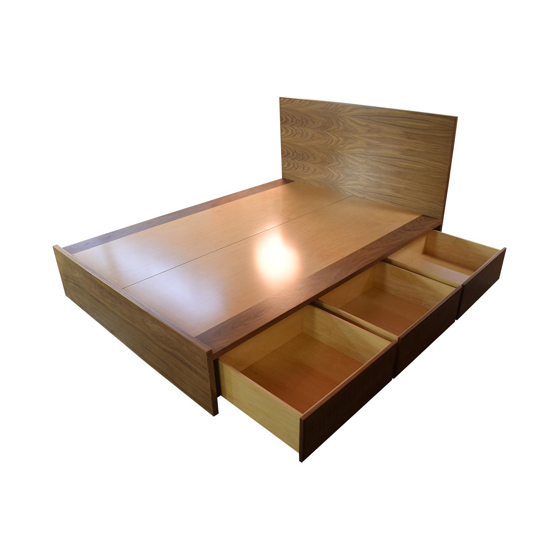 Urbangreen Furniture Thompson Queen Storage Bed Six Drawer with Headboard sale