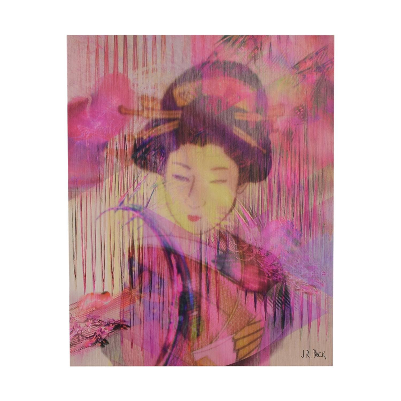 J R Beck Glycee Geisha Painting on sale
