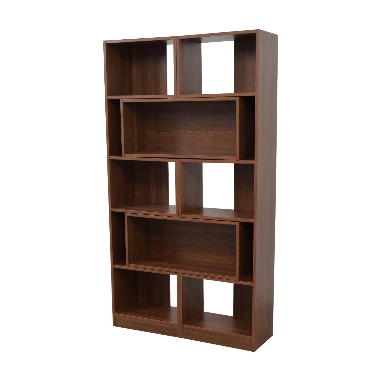Shop Crate Barrel Puzzle Bookshelf Bookcases Shelving