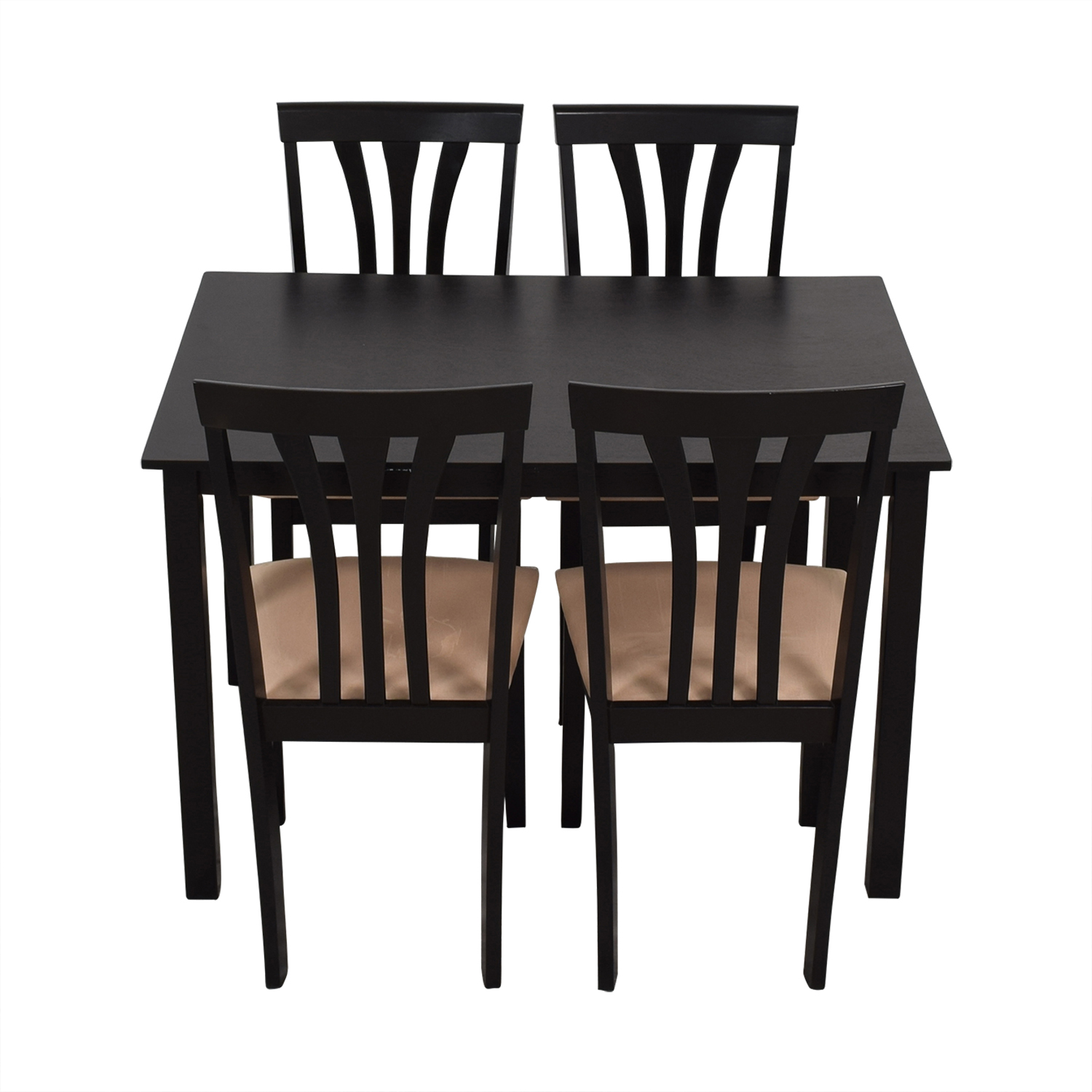Franklin Franklin Furinno Black Wood Dining Set Dining Sets