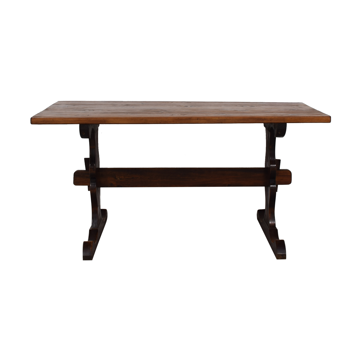 South African Pine Dining Room Table second hand