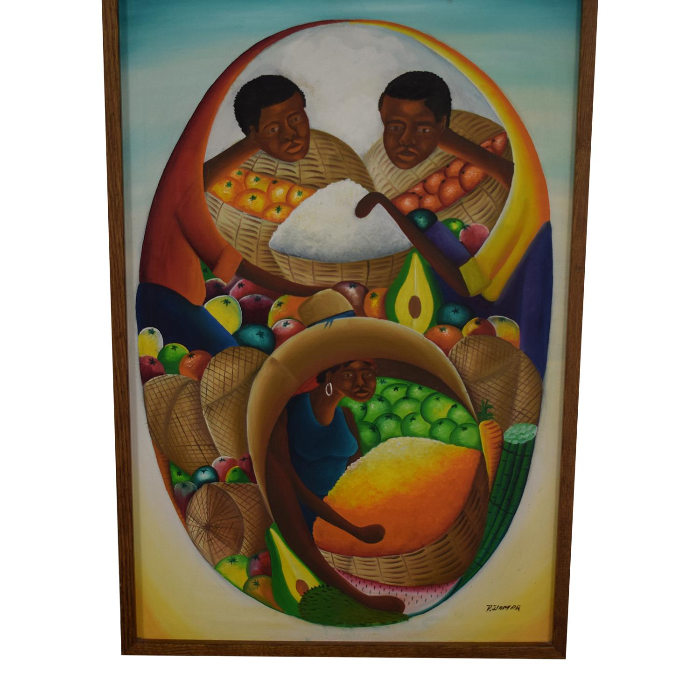 Haitian Oil Painting dimensions