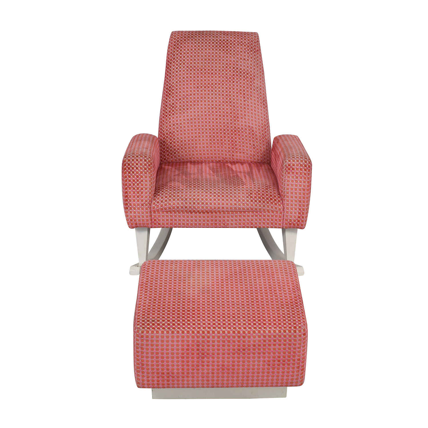 Furniture Masters Furniture Masters Pink Chair with Ottoman for sale
