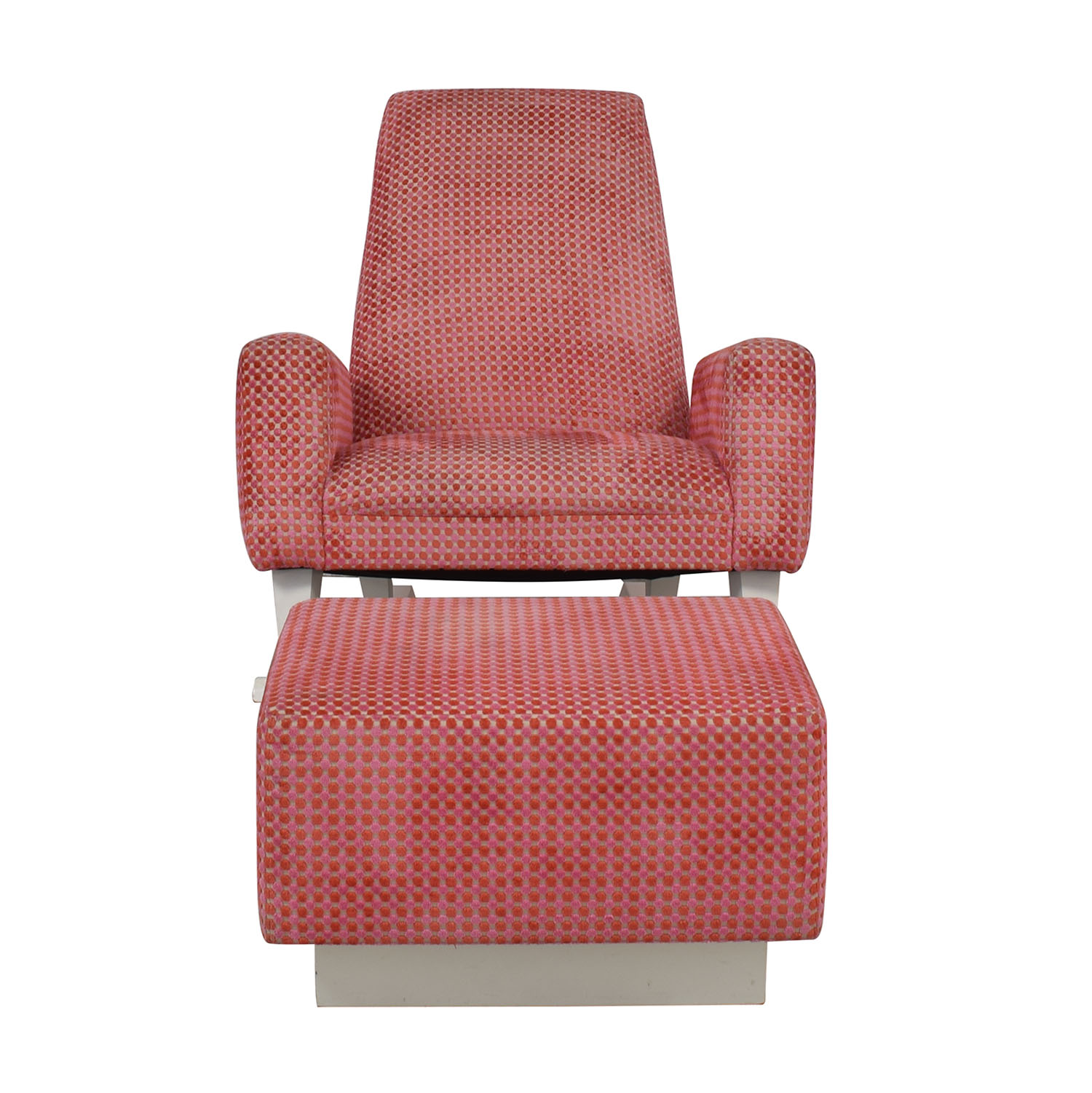 Furniture Masters Pink Chair with Ottoman sale