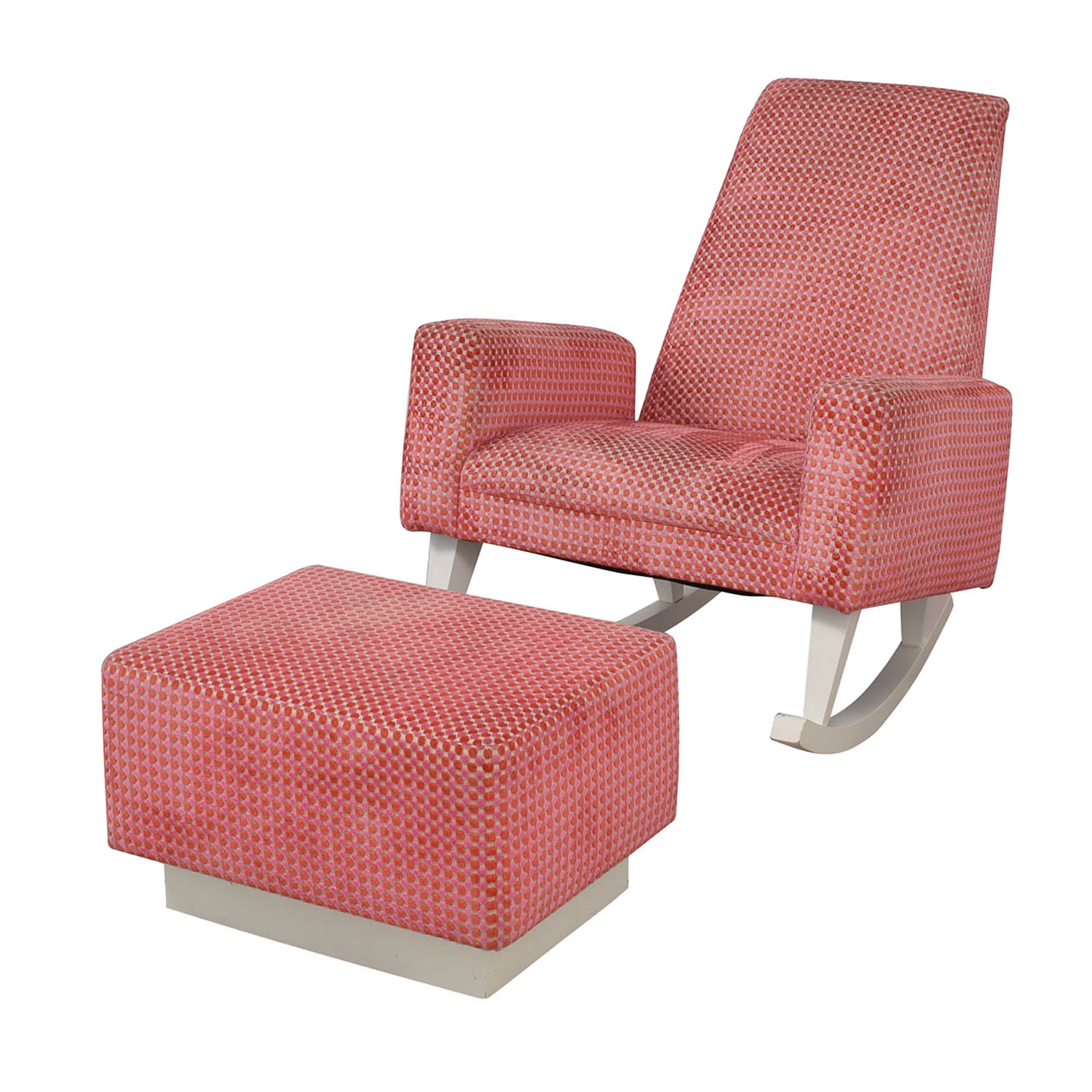 Furniture Masters Pink Chair With Ottoman Nj