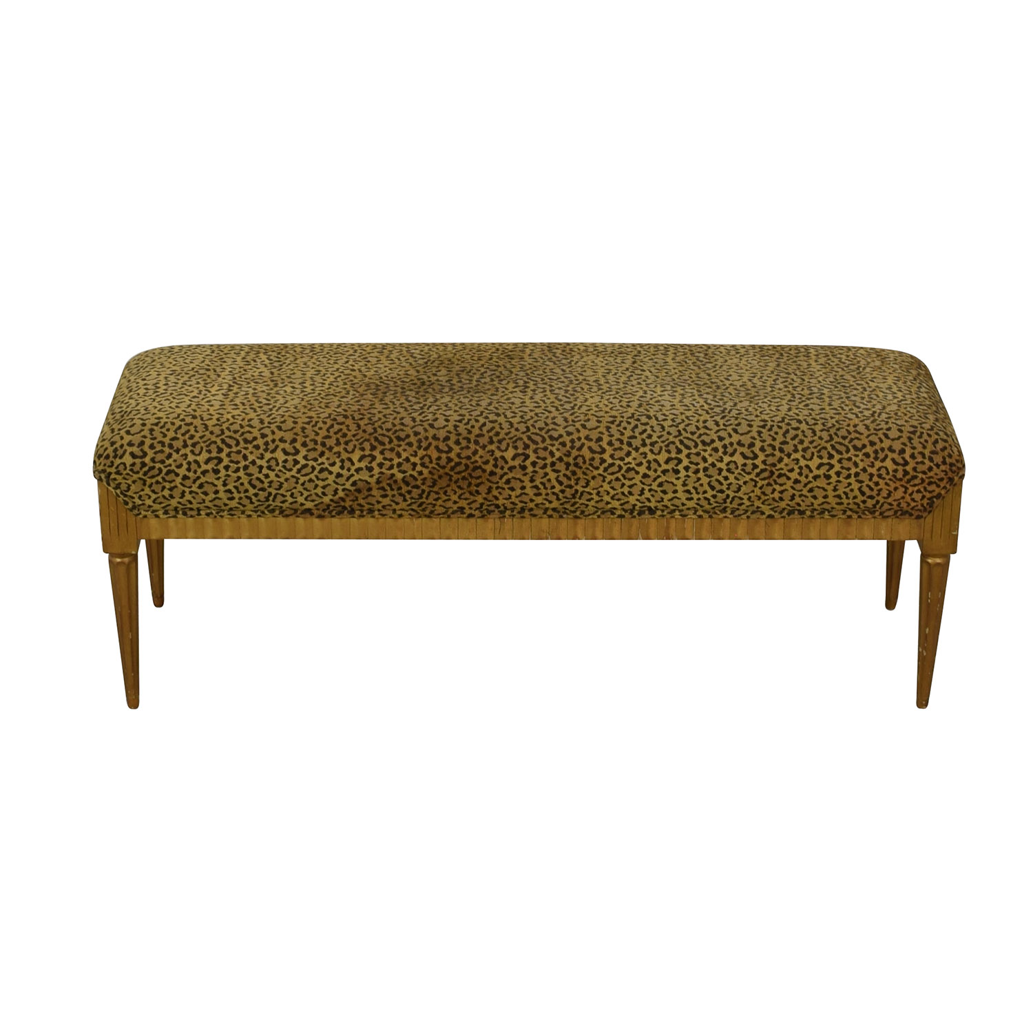 Furniture Masters Furniture Masters Leopard Print Bench dimensions