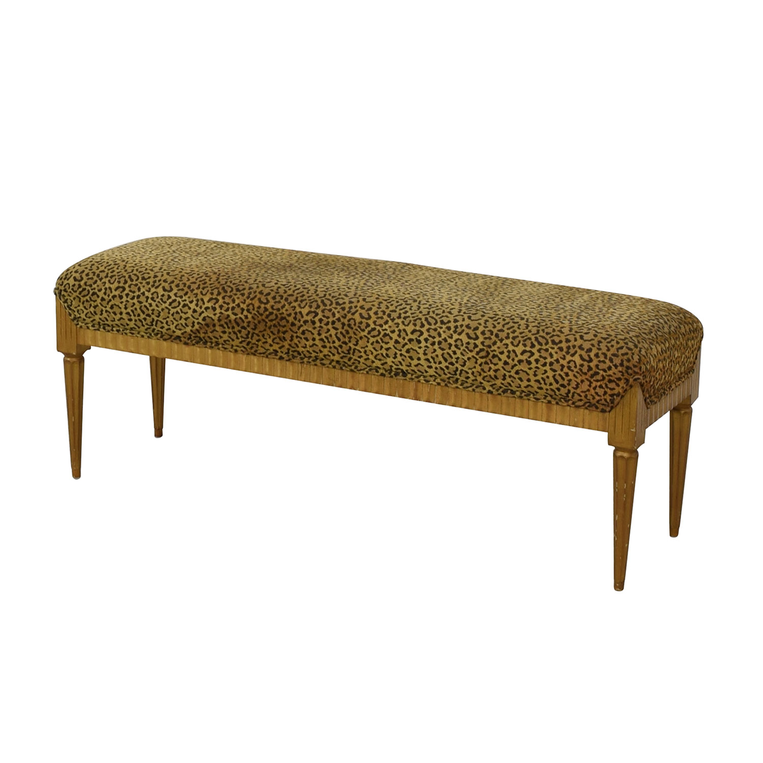 buy Furniture Masters Leopard Print Bench Furniture Masters