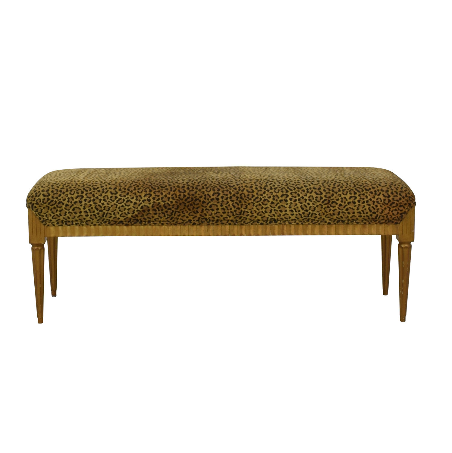 71% OFF   Furniture Masters Furniture Masters Leopard Print Bench / Chairs