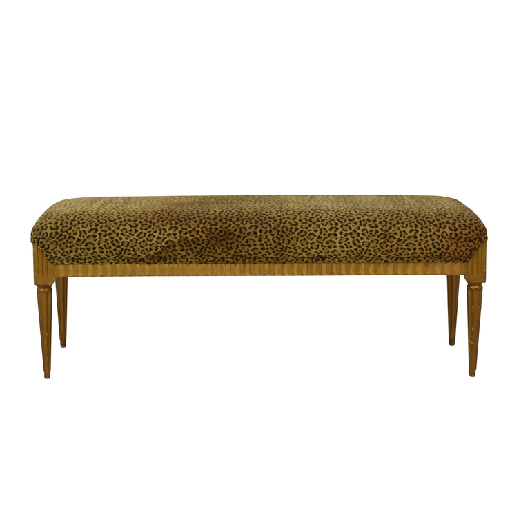 Furniture Masters Furniture Masters Leopard Print Bench nyc