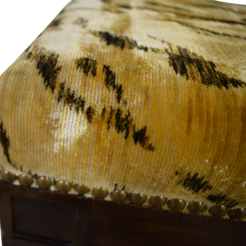 Furniture Masters Furniture Masters Tiger Print Ottoman BROWN