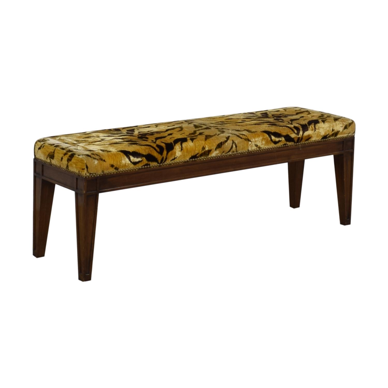 Furniture Masters Furniture Masters Tiger Print Ottoman nj
