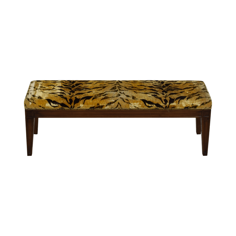Furniture Masters Furniture Masters Tiger Print Ottoman on sale