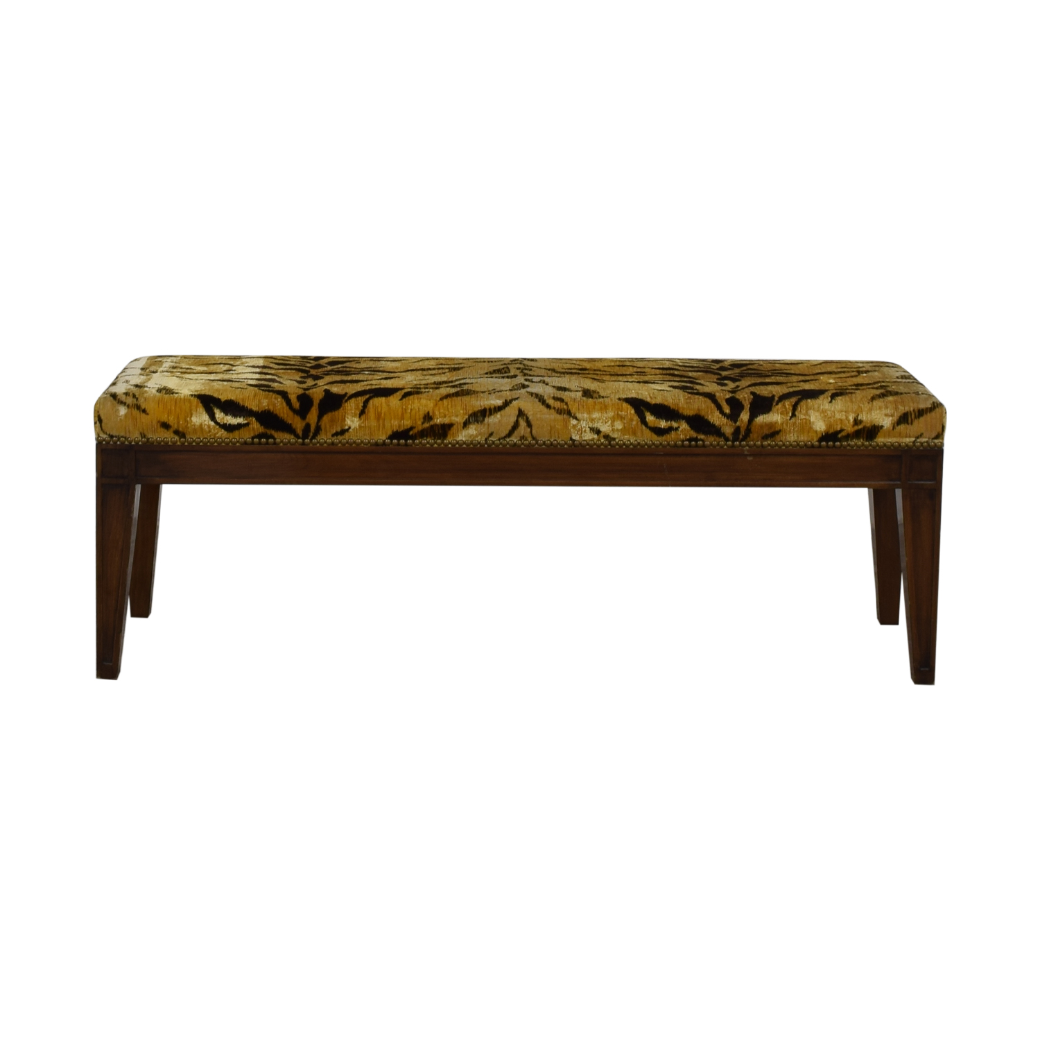 Furniture Masters Furniture Masters Tiger Print Ottoman on sale