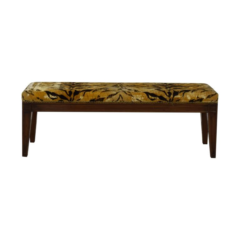Furniture Masters Tiger Print Ottoman Furniture Masters