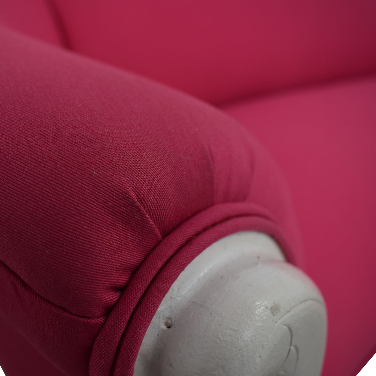 Vintage Fuchsia and White Loveseat discount