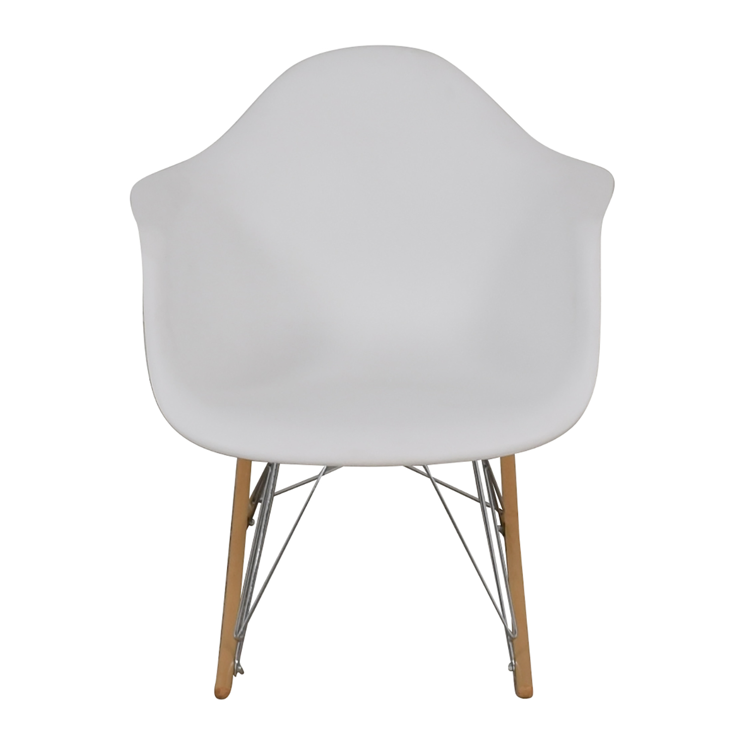 Strange 47 Off Molded Plastic White Rocking Chair Chairs Unemploymentrelief Wooden Chair Designs For Living Room Unemploymentrelieforg