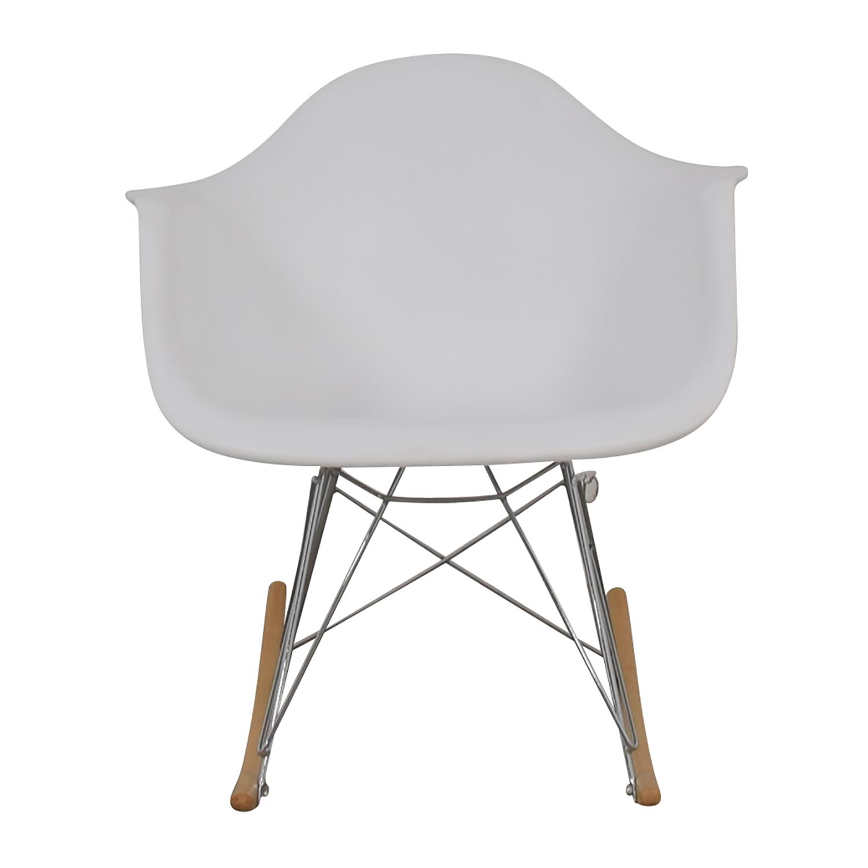 buy Molded Plastic White Rocking Chair  Sofas