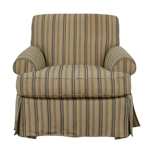 Furniture Masters Furniture Masters Stripped Accent Chair on sale