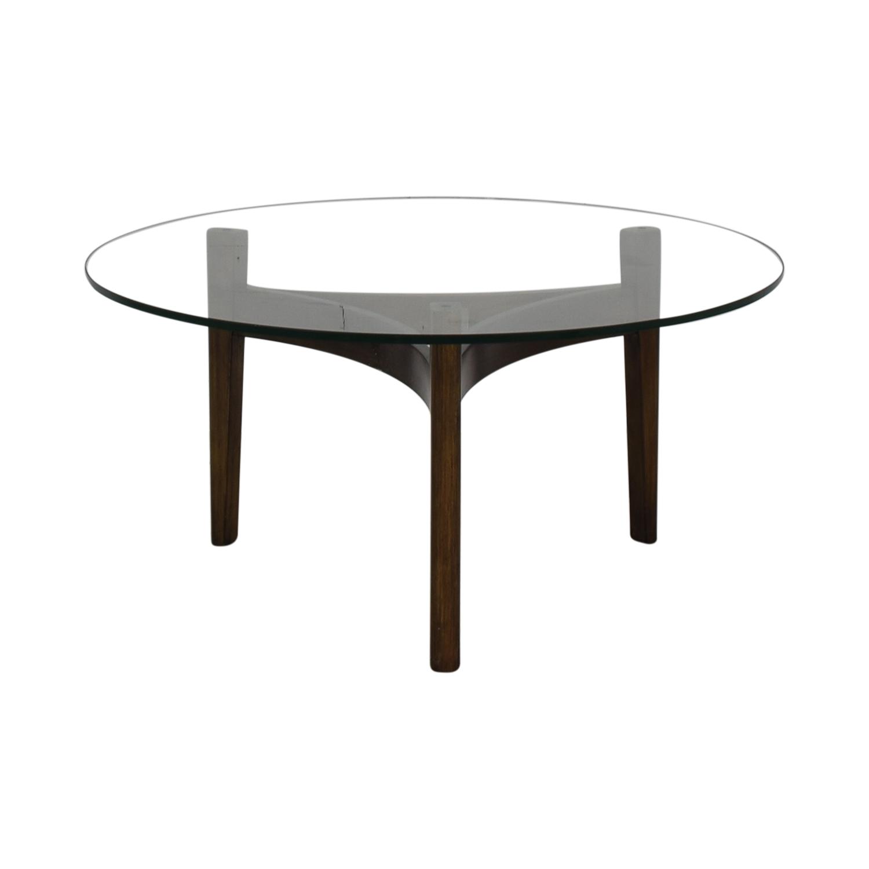 Bloomingdale's Bloomingdale's Maria Yee Catalina Round Glass Coffee Table nj