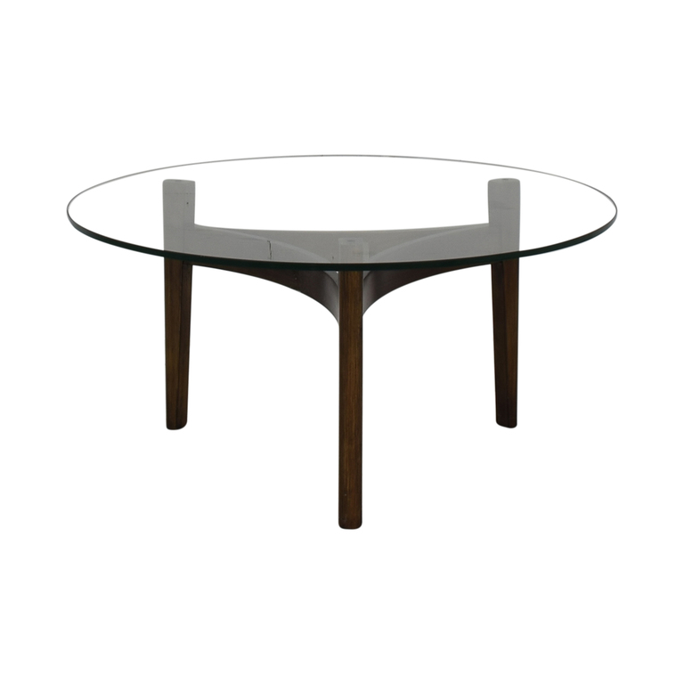 Bloomingdale's Maria Yee Catalina Round Glass Coffee Table sale