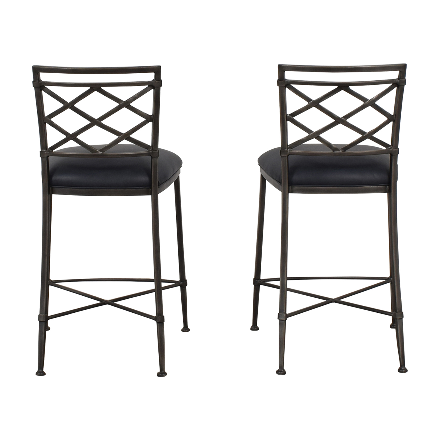 Ethan Allen Grey Bistro Chairs / Dining Chairs