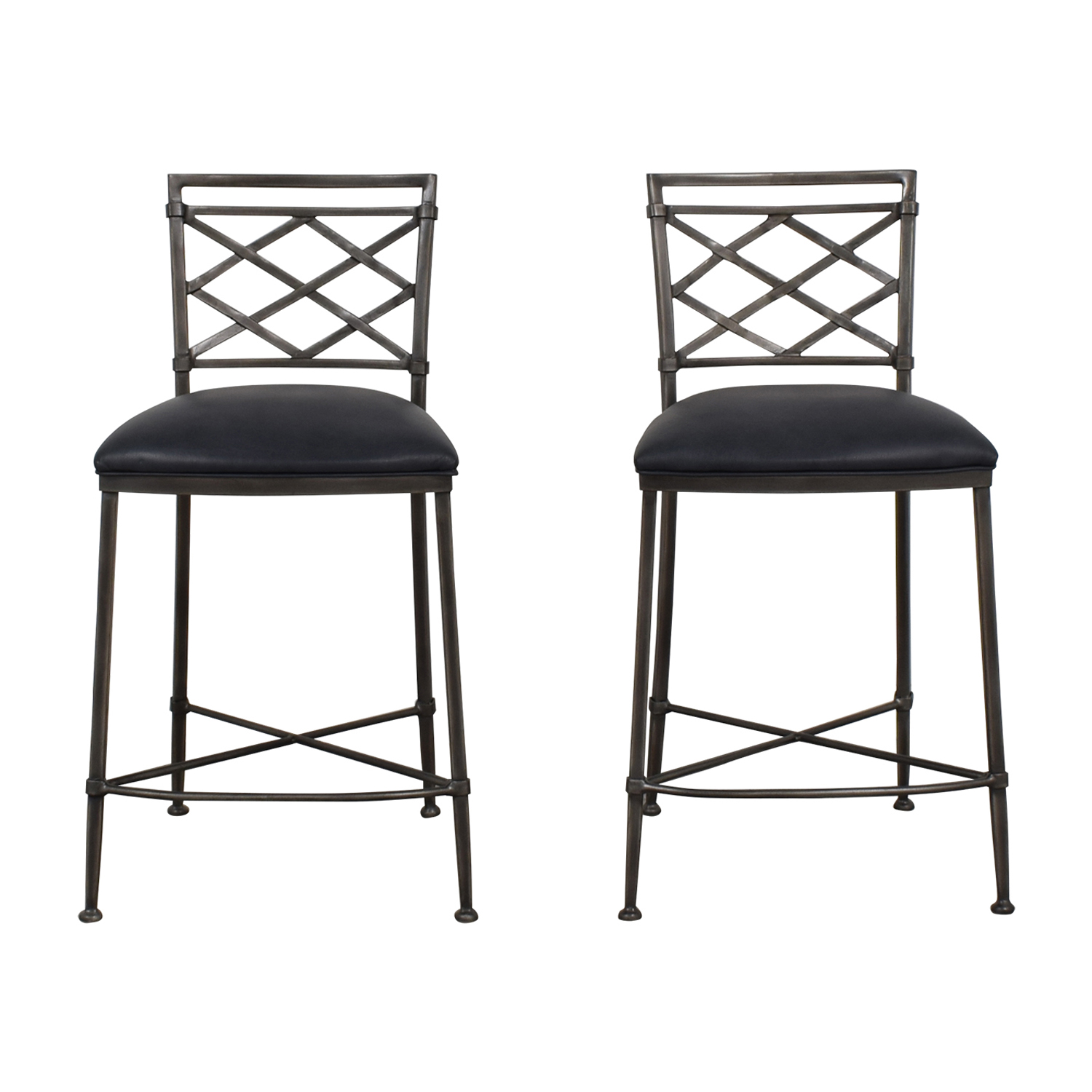 Ethan Allen Grey Bistro Chairs sale