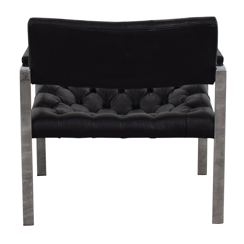 Milo Baughman for Thayer Coggin Milo Baughman for Thayer Coggin Black Tufted Arm Chair dimensions