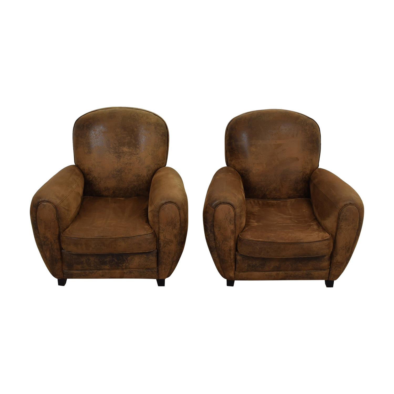 shop Maison du Monde Maison du Monde Brown Club Chairs online