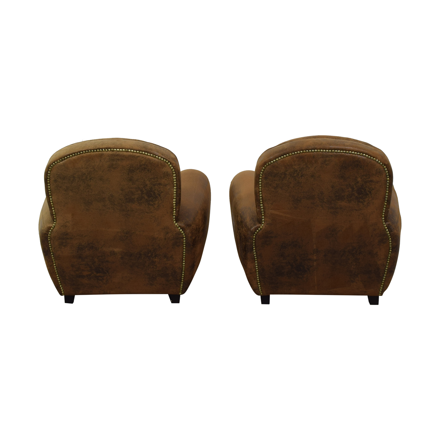 Maison du Monde Maison du Monde Brown Club Chairs Accent Chairs