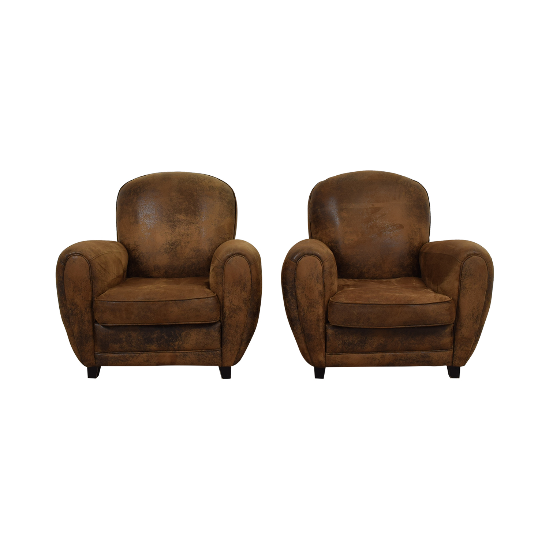 Maison du Monde Maison du Monde Brown Club Chairs
